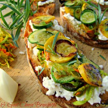Inspiration Strikes: Zucchini and Goat Cheese Bruschetta is Born