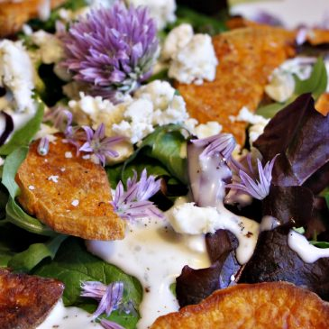 Roasted Sweet Potato and Blue Cheese Main Dish Salad