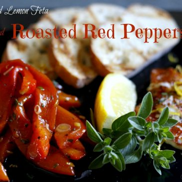 Field to Feast: Pan-seared Feta with Marinated Red Peppers