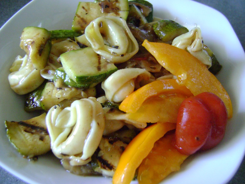 Tortellini Salad with Grilled Summer Veggies