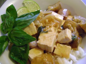 Eggplant and Tofu Red Coconut Curry