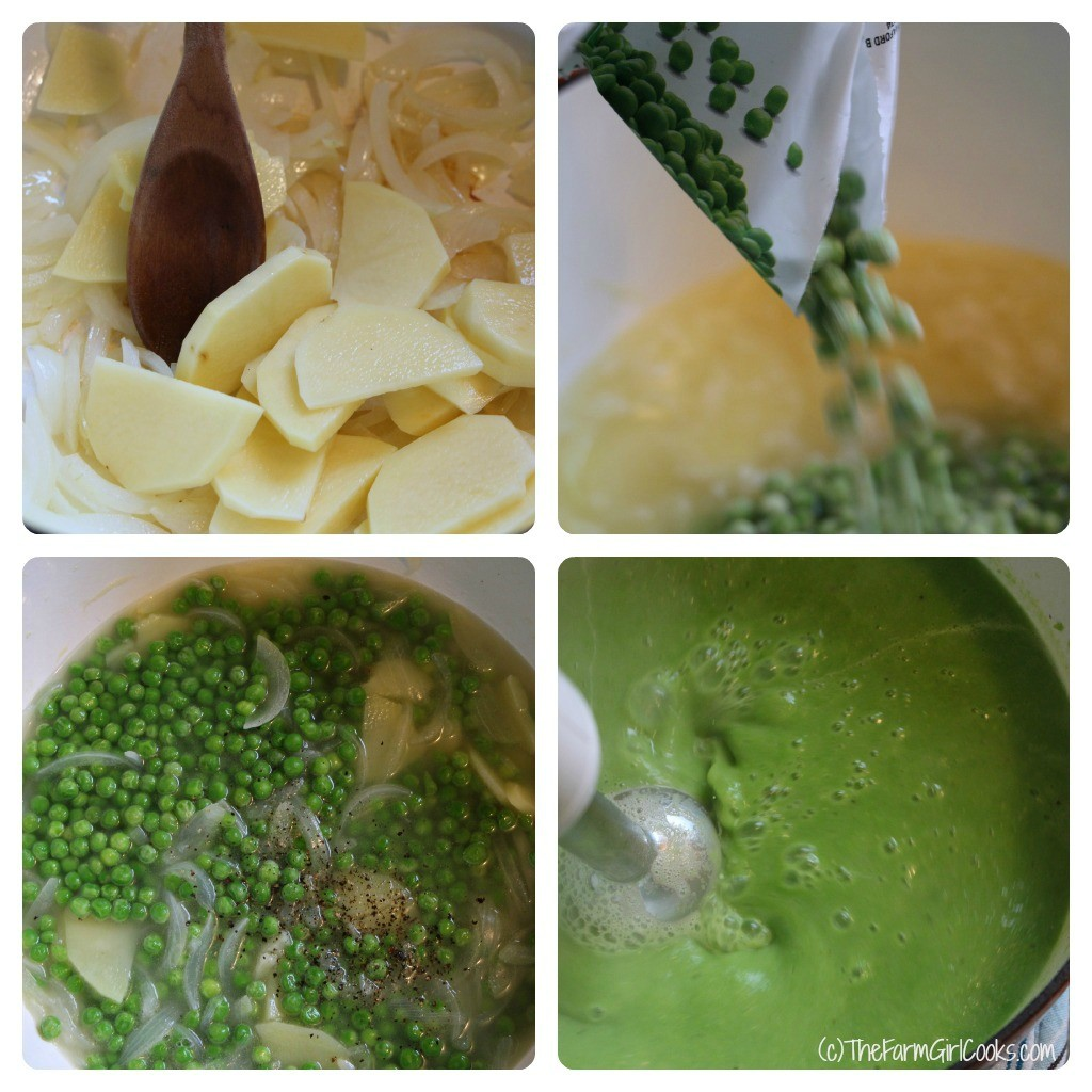 pea soup collage