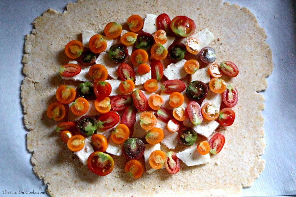 tomato brie galette uncooked