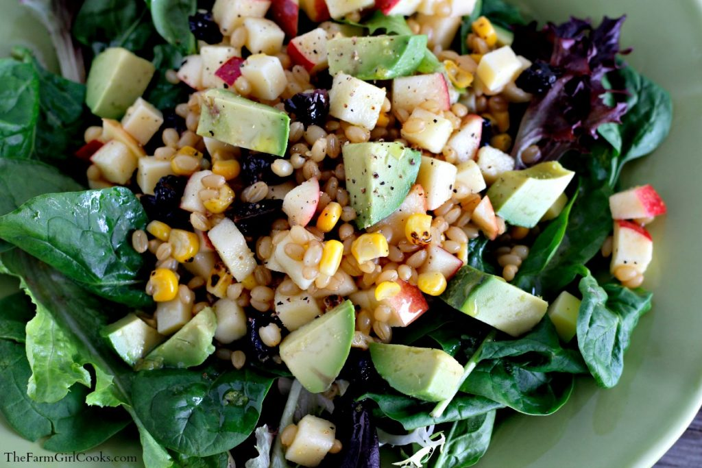 wheat berry apple salad